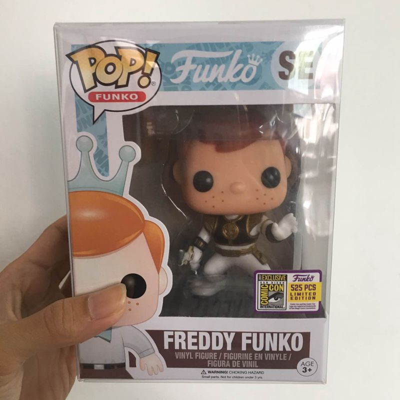 Fundays 2017 Exclusive Funko pop Official Freddy - White Ranger Limited Edition 525pcs Vinyl Action Figure Collectible Model Toy n 2015 new spot american original funko pop dc comics hero knell deathstroke limited doll