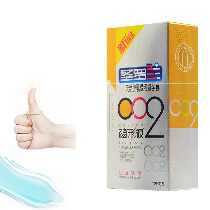 12pcs Brand Male extra super ultra thin 002 penis sleeve colored contex delay condoms preservativos sextoy adult sex toy