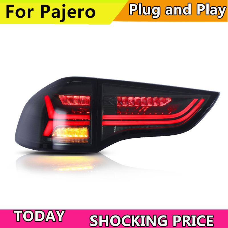 Car led Rear lamp for Car tail light for Montero LED Taillight 2008 2010 2012 2014 2015 Pajero Sport Tail lamp black color for f150 raptor f 150 led tail light rear lights for ford 2008 2012 year smoke black sn