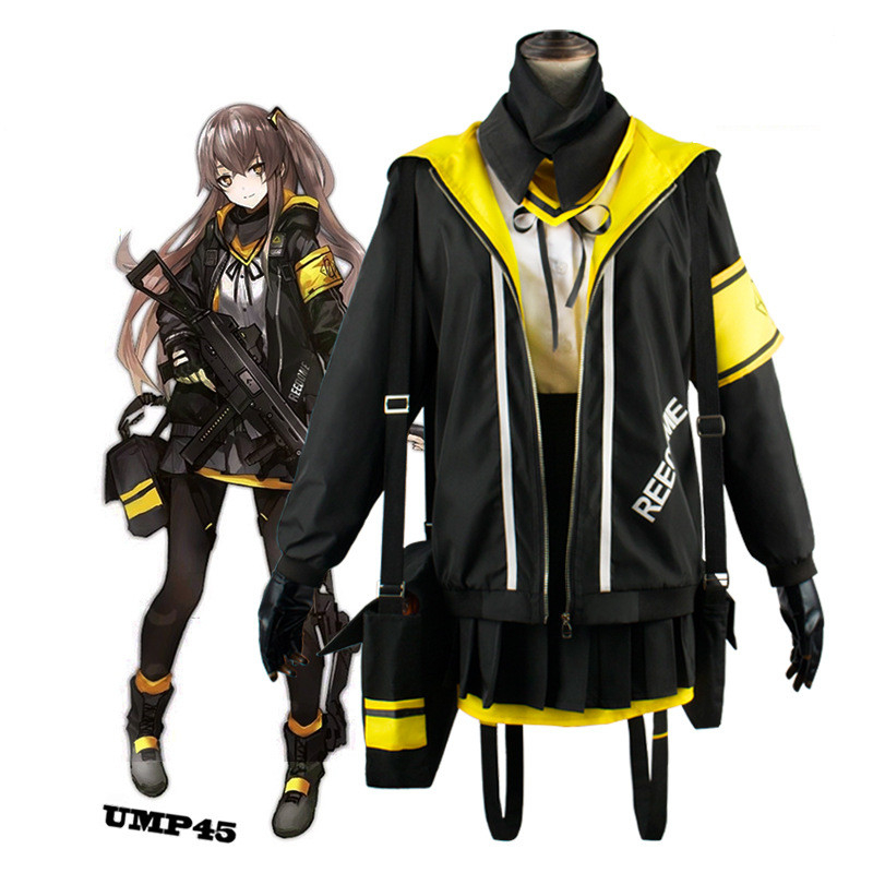 Game Girls Frontline Ump45 Cosplay Costumes Battle Uniform Women Girls Halloween Carnival High School Outfit Free shipping