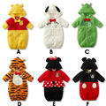 Животные детские костюмы дети трико-24pcs младенец с капюшоном костюмы младенцы одежда bb комбинезоны