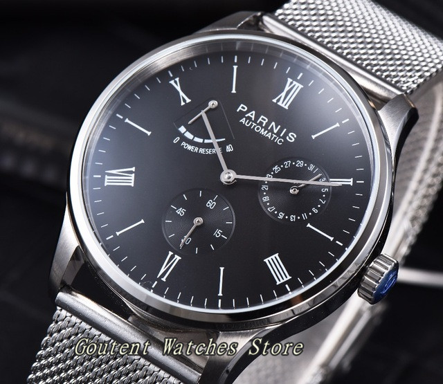 파르 미스 42mm 파워 리버스 날짜 갈매기 작은 두 번째 자동 남자 손목 시계-에서기계식 시계부터 시계 의  그룹 1
