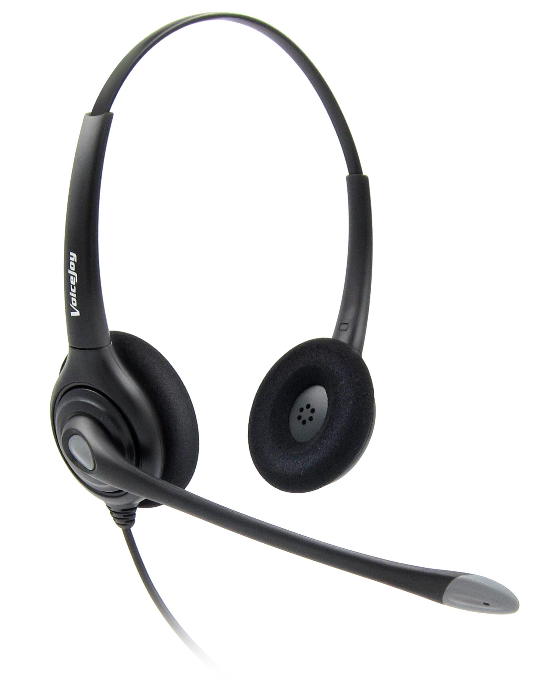 US $27 23 30% OFF|Anti Noise Telephone headset call center headphones +QD  cord RJ9 plug for AVAYA 1608 1616 9611 9620, Yealink, Grandstream phones-in