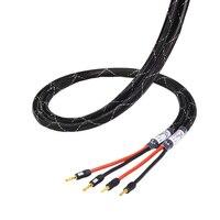HiFi MPS M 6SP HiFi 99.99997% OCC 24K Gold Plated banana speaker connector plug Bi wire speaker audio cable amplifier 1 pair