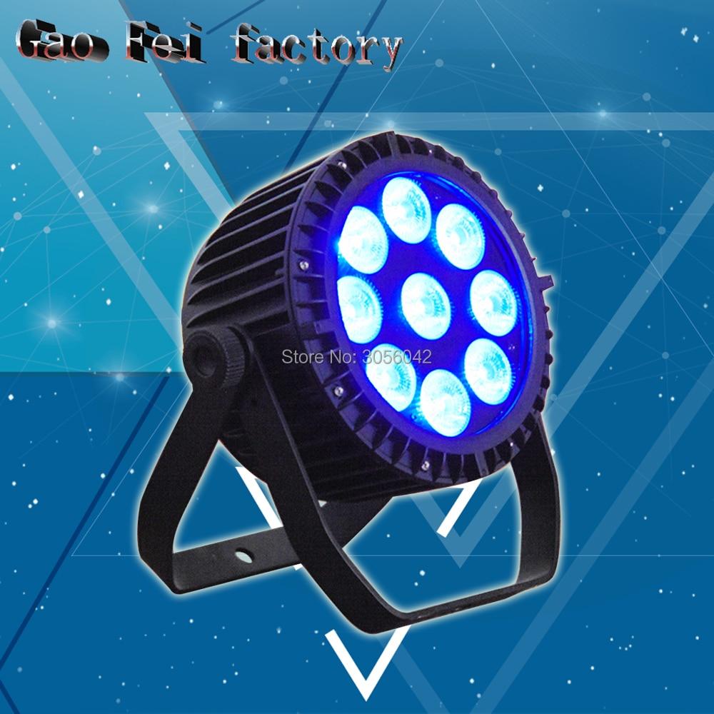 9x18W RGBWA UV Waterproof DMX512 Slim Par 6IN1 LED Outdoor Lights Auto9x18W RGBWA UV Waterproof DMX512 Slim Par 6IN1 LED Outdoor Lights Auto