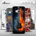 Mikoor Fashion Painted TPU Silicone Soft 5.0For HTC One M8 Case For HTC One M8 Cell Phone Cover Case