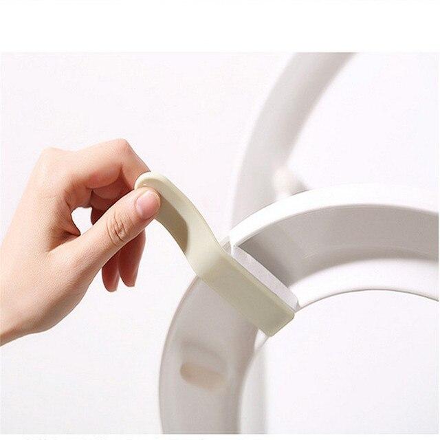 1 set Tavolette copriwater Sollevatore Maniglia di Plastica Attaccare Evitare di