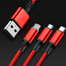 3 In 1 Micro USB Type C Charger Cable Multi Usb Port Multiple Usb Charging Cable Usbc Mobile Phone Cables For Samsung(China)