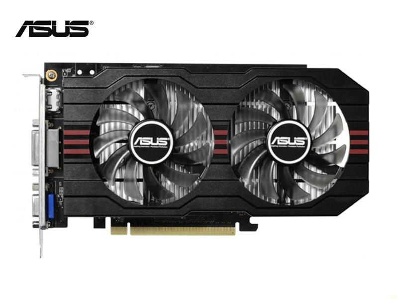 Используется,оригинальный ASUS видеокарты GTX 750 2048 Мб/2 ГБ 128бит видеокарта с GDDR5,100% тестирование хорошо!