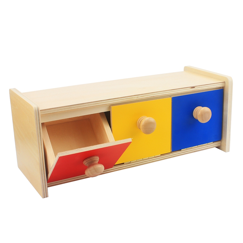 Kids Toy Montessori Materials Baby Wooden Colorful Drawer Box Learning Educational Preschool Training Infant Brinquedos Juguets
