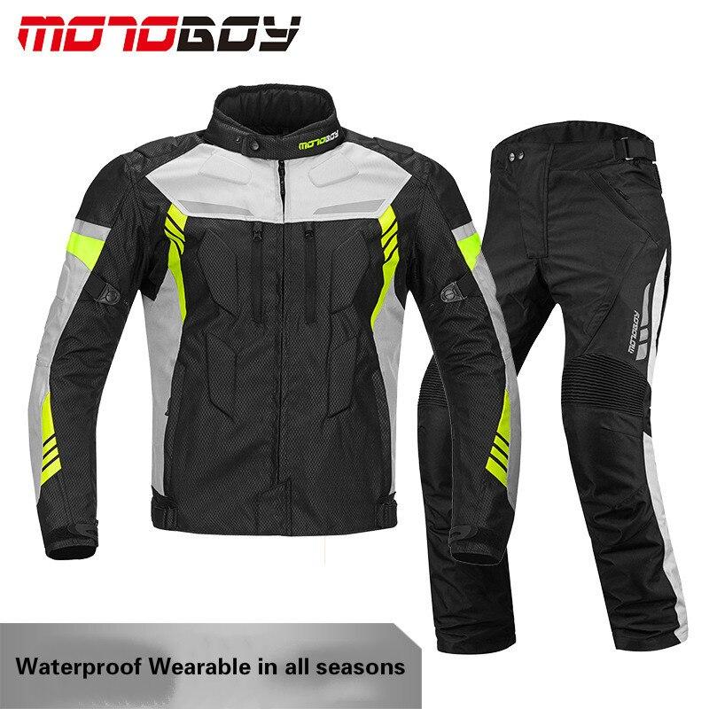 MOTOBOY hommes/femmes imperméable à l'eau chaude doublure 600D Oxford tissu moto équitation costume cavalier course vestes Motocross CE protecteurs