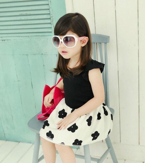e10d12477a86 korean models Fly sleeve kids dresses for girls Princess Dress ...