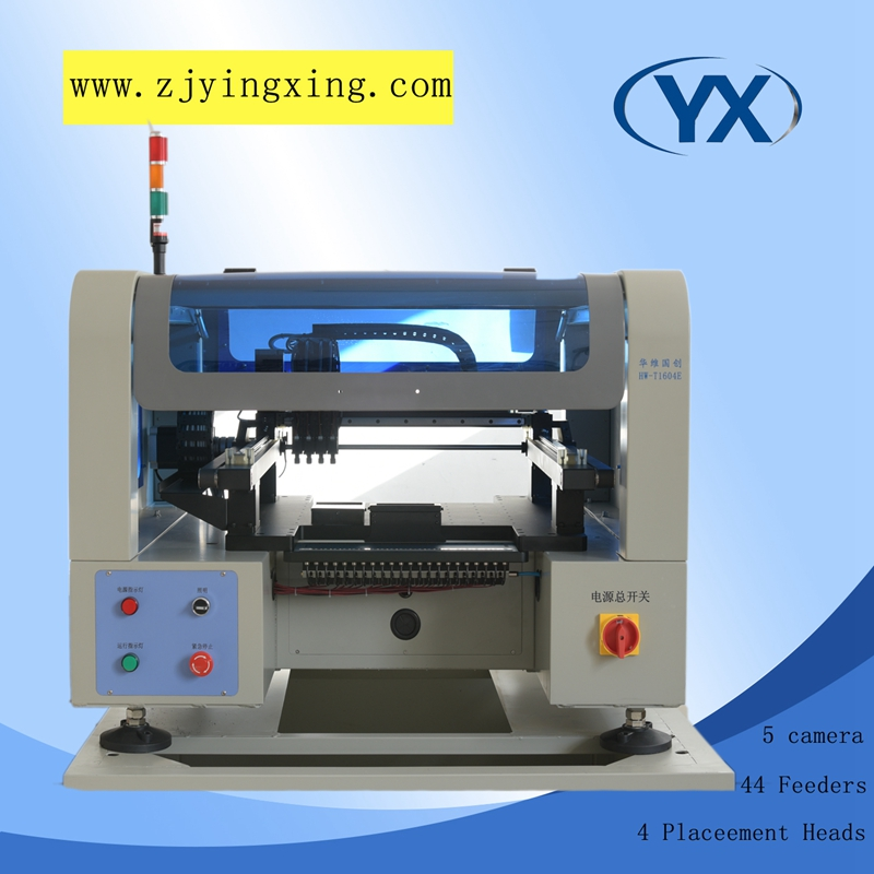 Low Price High Placement PCB Equipment, SMT Chip Mounter Made in China with 6pcs Camera/4 Heads and JUKI Nozzle