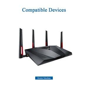 Image 5 - 2pcs Router Antenna Wifi 2.4GHz Omni 5.8GHz Antenna Dual Band High Gain Antena Signal Amplifier WLAN SMA Male Aerial Z11 BWFSJ