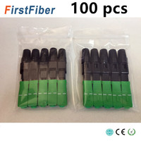 100pcs SC APC Fast Connector Embedded SC adapter FTTH SC APC quick connector fiber splicer Small Package