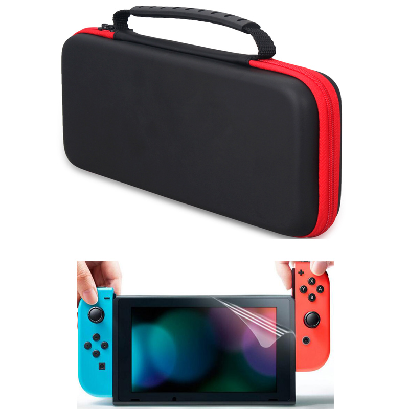 цена на Nintend Switch Carrying Case Storage Bag bolsas Protective Hard EVA Travel Case for Nintendos Switch NS accessories Shell Film