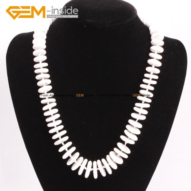 9d5543171e6d Collar de piedra Natural granos redondos collares grandes perlas graduadas  moda joyas Diy collar moda mujer