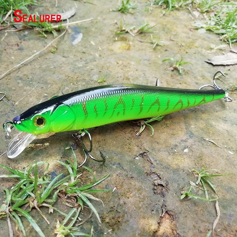 SEALURER Minnow Fishing Lures 11.5CM 13G Wobbler Floating 6# Treble Hook Artificial Pesca Hard Bait Swimbait Crankbait 5 Colors