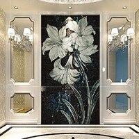 Пользовательские ручной огранки стеклянная мозаика, фрески, A4J083