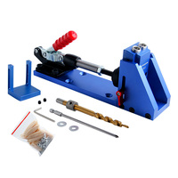 Pocket Hole Jig Kit System Mini Drill Guide With 9 5mm Step Drill Bit HSS For