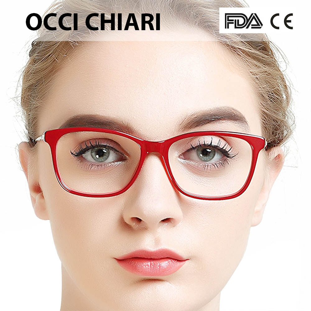 57116d5eb0f OCCI CHIARI Glasses Clear Optical Women Glasses Frame Clear Lens Eyeglasses  Spectacles Designer Trendy Acetate Red W CARLEO-in Eyewear Frames from  Apparel ...