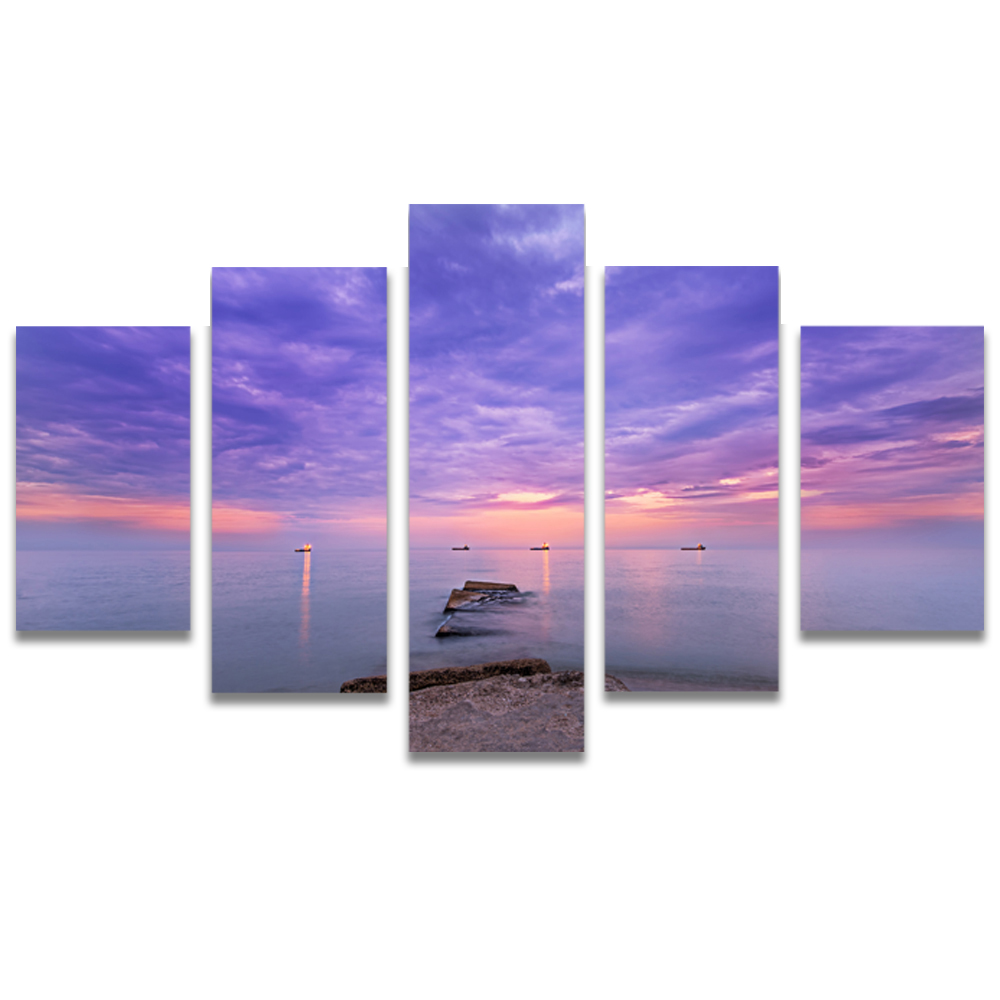 Unframed Canvas Painting Sea Level Clouds Sunset Photo Picture Prints Wall Picture For Living Room Wall Art Decoration