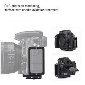 Image 2 - Liberação rápida qr l placa tripé suporte para nikon d750 câmera arca padrão plataforma tripé l suporte alça vertical