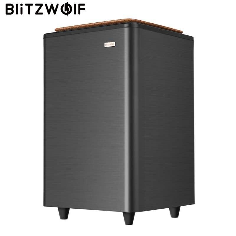 BlitzWolf BW-SW2 70 w Turbo 2.4g Sans Fil Subwoofer Grand Double Basse En Bois Cornes Haut-Parleur pour BW-SDB2 Barre De Son