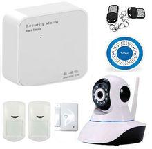 WIFI GSM Alarma de Seguridad Inalámbrica GSM Inicio Sistema De Alarma Con Cámara IP Protección del Hogar WIFI GPRS GSM Sistema de Alarma