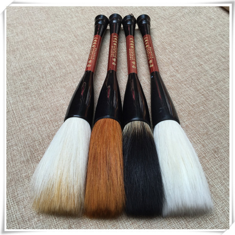 Traditional Chinese Writing Calligraphy Brushes Hopper-shaped Brush Large Brush Pen Woolen Hair Festival Couplets Pen Escolar цена