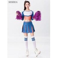 Seseria vendita calda scuola ragazza glee cheerleader costume manica lunga uniform costume party sml xl
