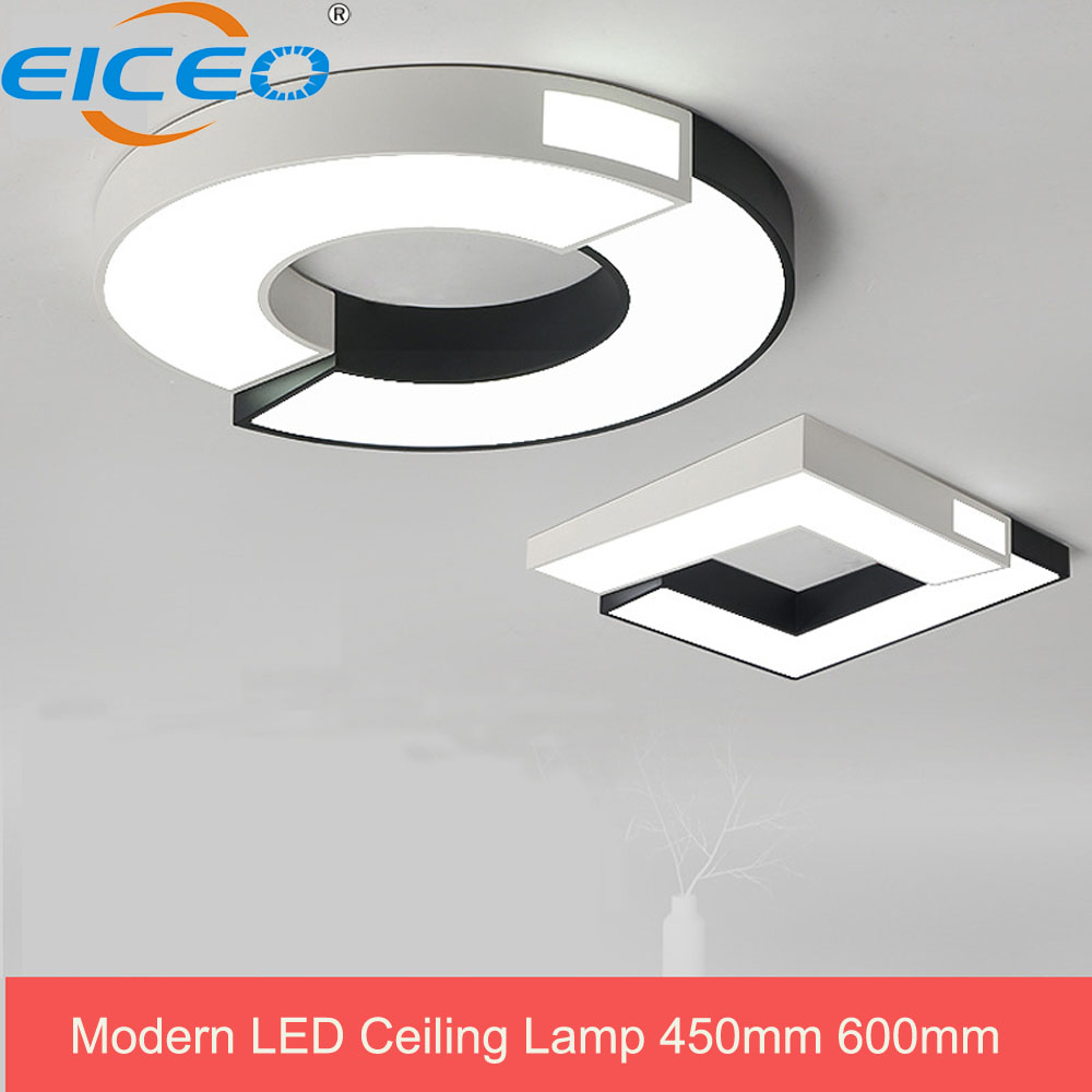 LED Ceiling Lights Color Modern Ceiling Lamp 30W 450mm Smart Remote Control 48W 600mm Dimmable Bedroom Living Room Eye protected