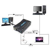 5PCS VGA To Scart Converter Video Converter Portable Video Digital Switch Box