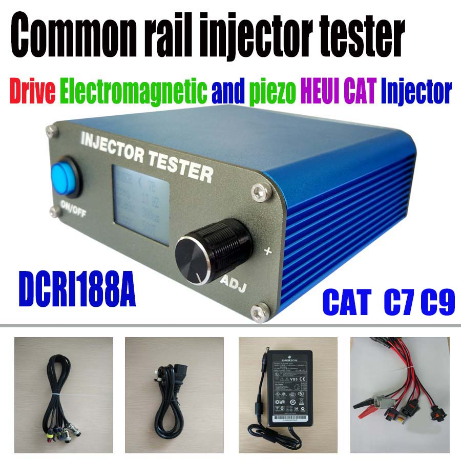 hight resolution of common rail injector tester dcri188a drive heui cat c7 c9 electromagnetic piezo common rail injector