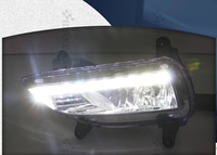 High Quality LED Daytime Running Light DRL Fog Lamp With Yellow Turn Light Function For Kia