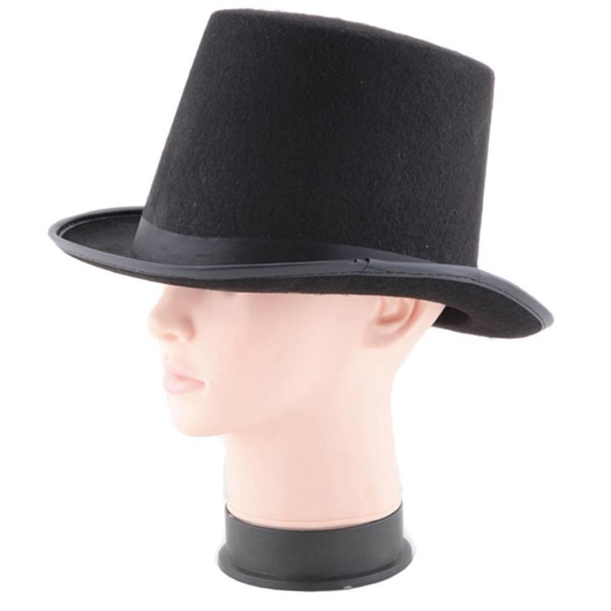 1a747ee0ac929 Fast Sending Hats Props Black Hat Halloween Magician Magic Jazz Hats  Halloween Costume Halloweens Party Accessory