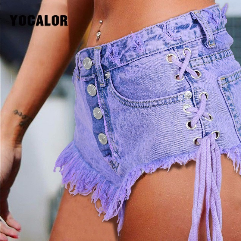 2018 Sexy Mini Jeans High Waisted Waist Summer Cotton Shorts Women Strapon Short Sexy Denim Shorts Jeans Hot Jeanse Twerk