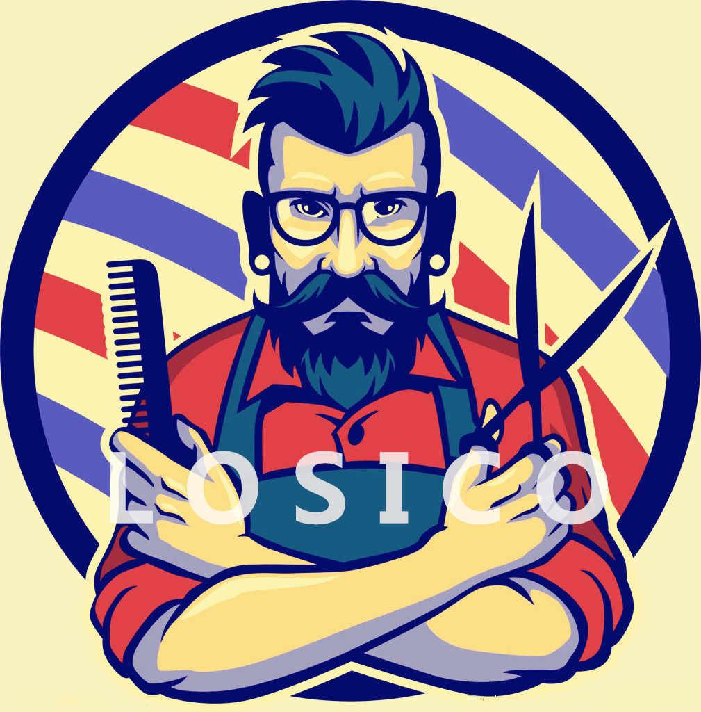 Ретро парикмахер татуировки рисунком плакат на крафт-бумаге парикмахерской Настенный декор ножницы для стрижки волос бритья волос настенные наклейки для салона 30X42 см F