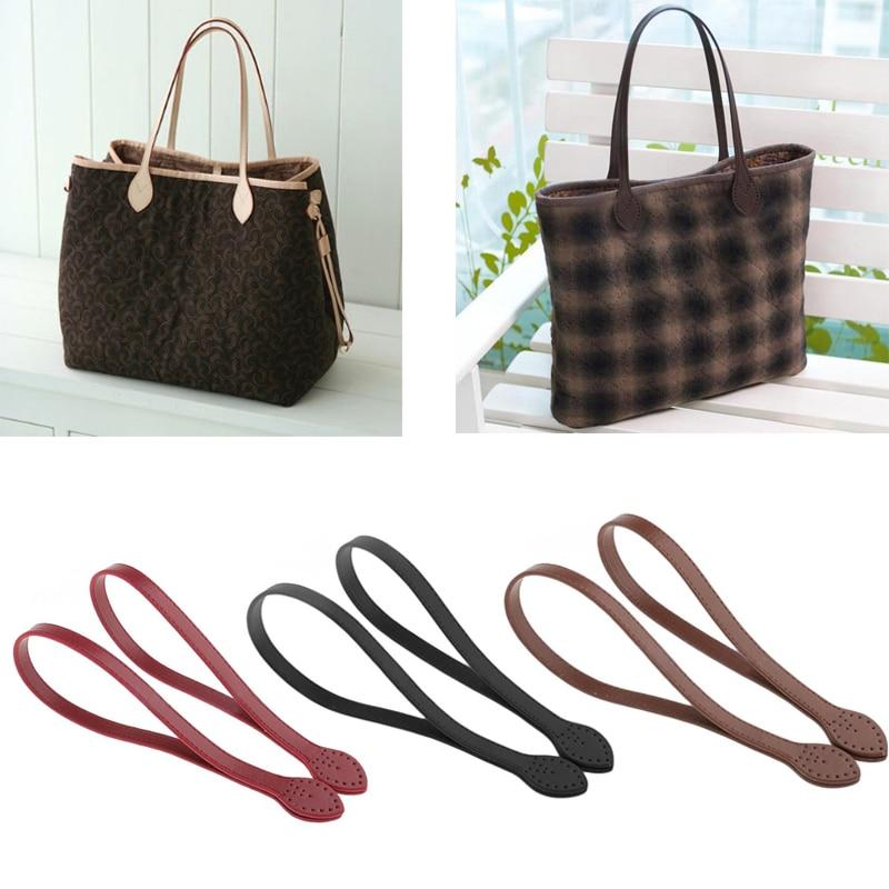 FASHIONS KZ 60cm Bag Strap PU Leather Bag Handle Belt Shoulder Bag Handles Replacement For Handbags Strap DIY Accessories KZ0333