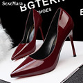 2017 European Style Simple Sexy Show Thin Poited Toe Pumps High Heels  Party Shoes Woman Hot OL Office Classics Ladies Pumps