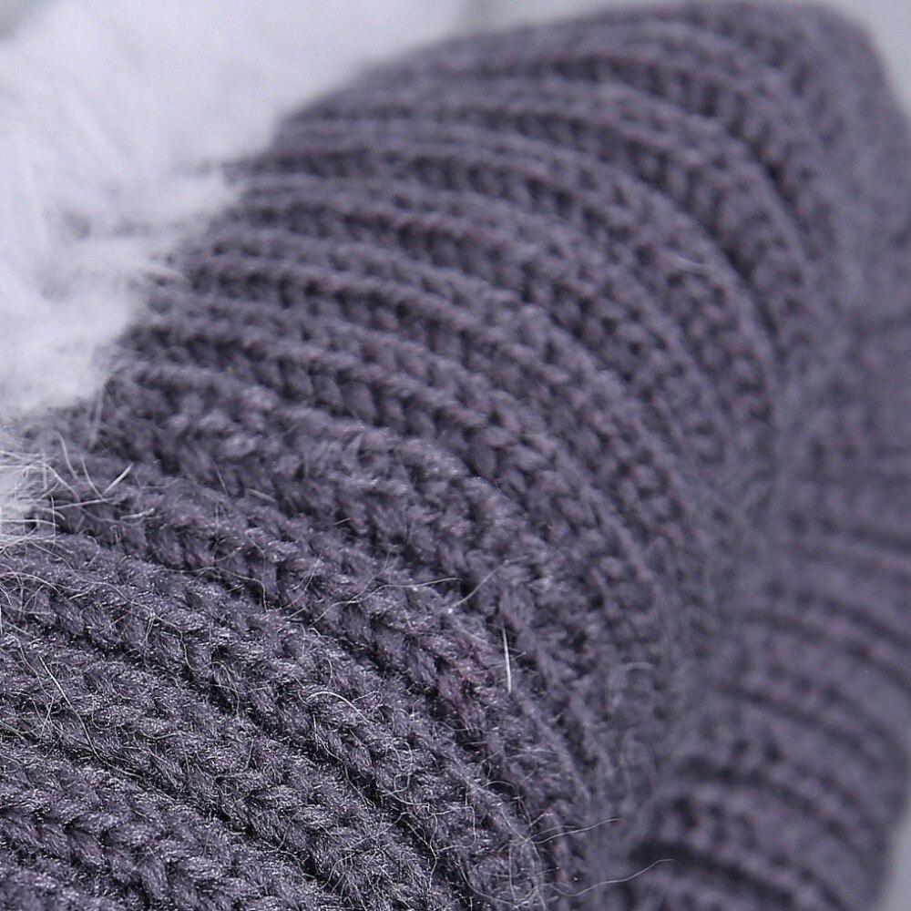 Women fur hat for winter natural rex rabbit fox fur cap russian female fur headgear 2018 brand new fashion warm beanies cap 5
