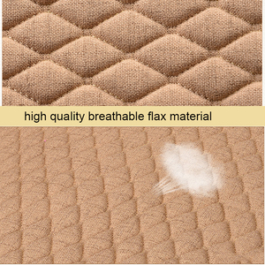 Image 4 - Linen Fabric Car Seat Cover Four Seasons Front Rear Flax Cushion Breathable Protector Mat Pad Auto Accessories Universal Size