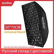 "Godox 50x70 سنتيمتر 20 ""x 27"" الفوتوغرافي Softbox مع العسل شبكة العالمي جبل ل E250 E300 K 150A K 180A 250SDI 300SDI ستوديو فلاش ستروب"