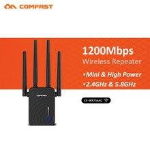 1200 Мбит/с Comfast CF-WR754AC Домашний Беспроводной роутер Wi Fi 4 * 2dbi ретранслятор AP 5 ГГц длинные усилитель широкого диапазона телевизионные антенны усилители домашние