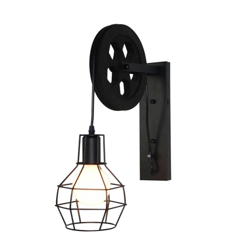 Applique Industrielle Vintage Industrielle Applique Poulie Lampe