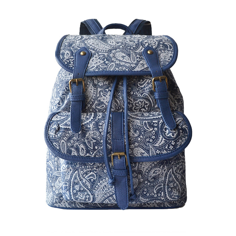 Homeda New Vintage Canvas Women Backpack Fashion Casual Travel School Bag Mochila Escolar Feminina  Z0090 2017 new fashion designer women backpack women travel bags vintage school shoulder bag motorcycle bag mochila feminina