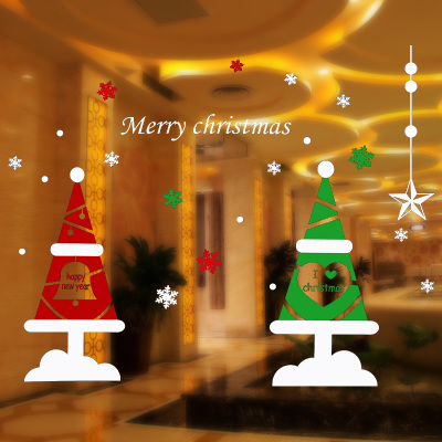 christmas decorations christmas store window s wall stickers window static sticker cute nice glass stickers natal noel navidad in christmas from home - Noel Christmas Store