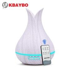 KBAYBO 400 мл увлажнитель воздуха с пультом дистанционного управления белый деревянный аромат масла диффузор очиститель воздуха 7 цветов Варианты лампы для дома