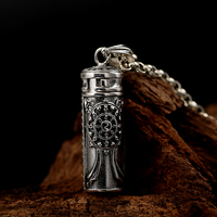 Thai silver restoring ancient ways ga black box pendant scripture sweet bursa barrel hanging drop s925 silver pendant jewelry