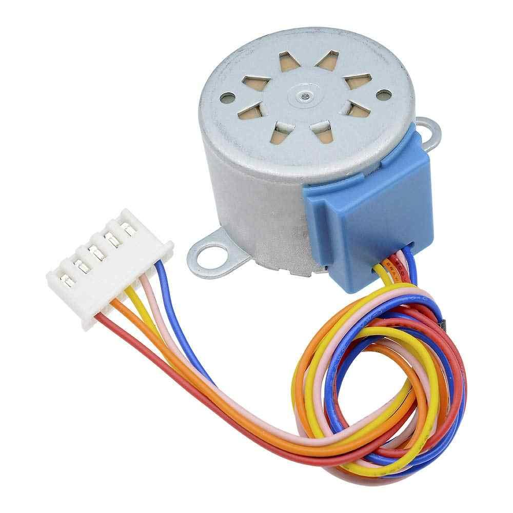 Eletrônica inteligente 28byj-48 12 v 4 fase dc engrenagem stepper motor + uln2003 placa de motorista para arduino kit diy